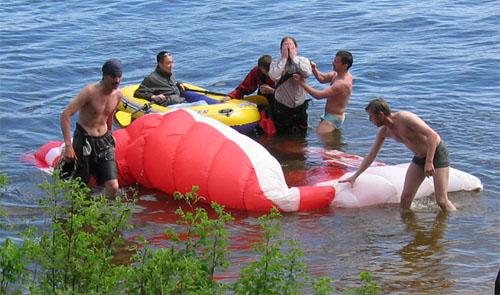 Выход тел из воды